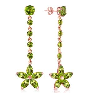 SOLID GOLD CHANDELIERS EARRINGS WITH PERIDOTS